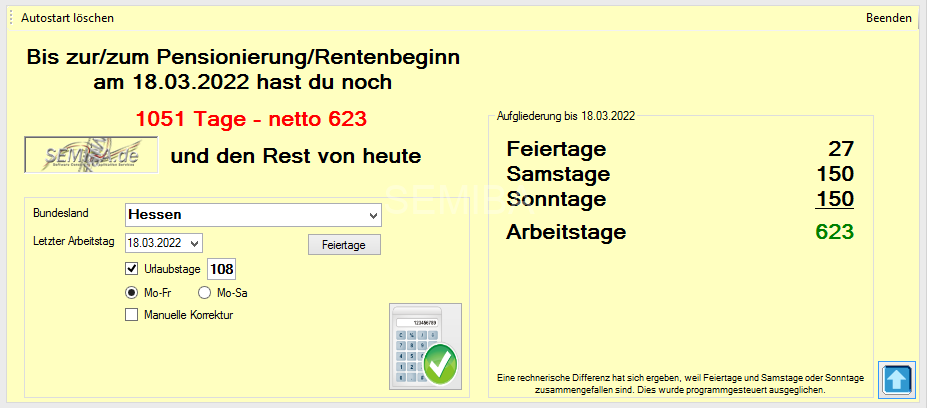 Renten Countdown